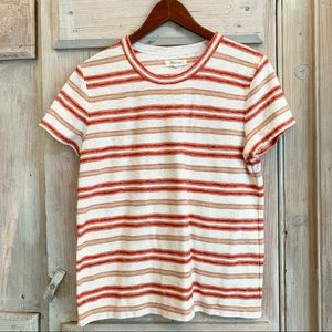 Madewell Striped Crew Neck Tee
